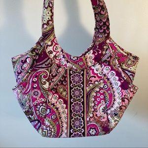 Very Bradley pink pattern shoulder tote bag